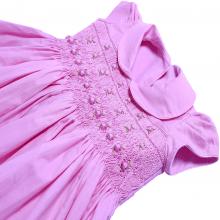 Vestido casinha de abelha em ponto smock rococo rosa - 1 ano