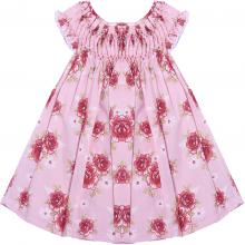 Vestido casinha de abelha rosa bella - 3 a 6 meses