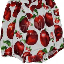 Jardineira infantil maçã