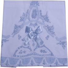 Cueiro lençol de xixi renda renascença laço azul