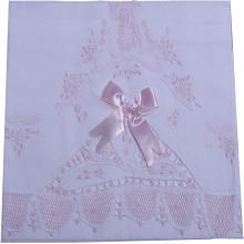 Cueiro lençol de xixi renda renascença laço rosa