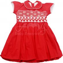 Vestido casinha de abelha vermelho 3 anos - ATACADO
