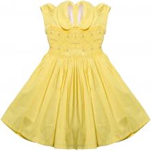 Vestido casinha de abelha amarelo rococo- 3 anos