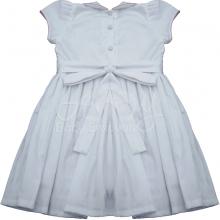 Vestido casinha de abelha branco rococo rosa 3 anos - ATACADO