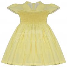 Vestido casinha de abelha ponto smock daisy - 2 anos