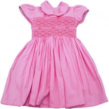 Vestido casinha de abelha ponto smock rosa lis - 1ano