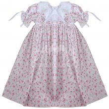 Vestido renda renascença infantil flora rosa - 2 anos