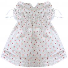 Vestido renda renascença infantil moranguinho - 1 ano