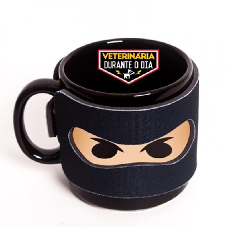 Veterinária - Ninja das Profissões - Caneca