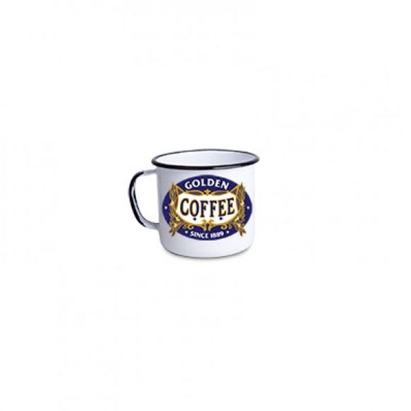 Golden Coffee - Tamanho P - Caneca de Metal