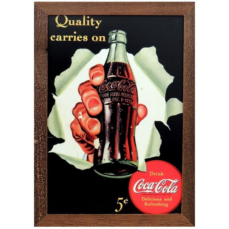 Coca-Cola - Garrafa- Quadros Retrô