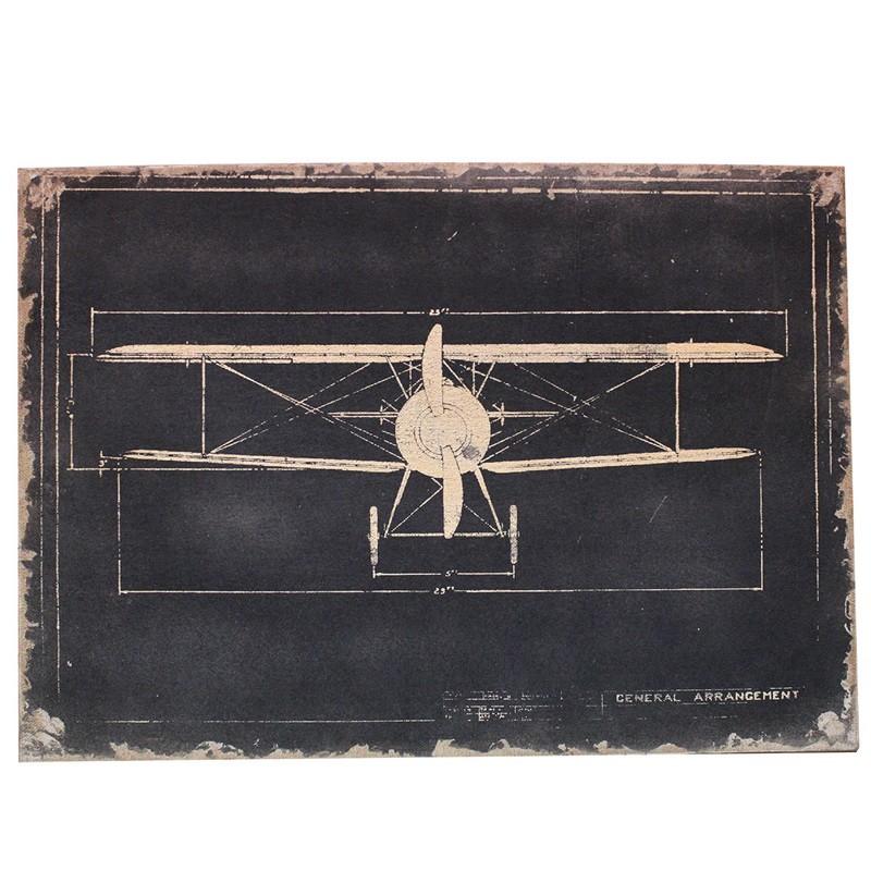 Avião- Tela em lona- Quadros Grandes