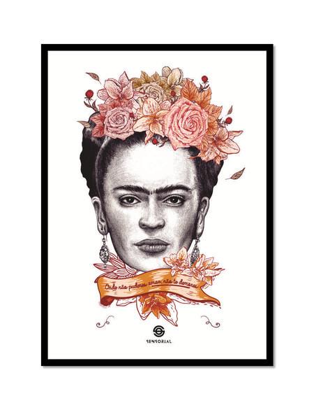 Frida Amor - Poster com Moldura