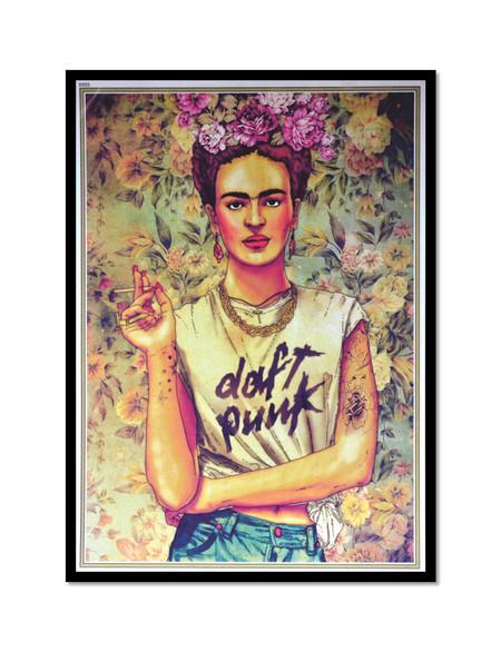 Frida Hipster - Poster com Moldura