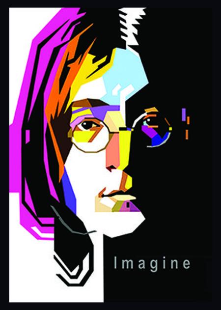 John Lennon Imagine - Poster com Moldura