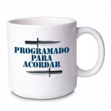Programado para Acordar e Programado para Devorar - Kit Caneca + Bowl