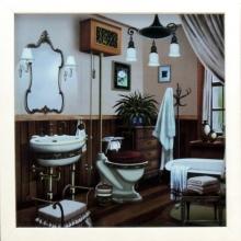 Banheiro Colorido - Quadro