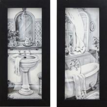Banheiro P&B - Quadro