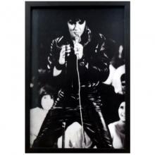 Show do Elvis- Quadro Retrô com Vidro