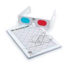 Bloco de Notas 3D com Óculos