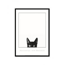Cat Curiosity - Poster com Moldura