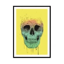 Caveira Tinta - Poster com Moldura