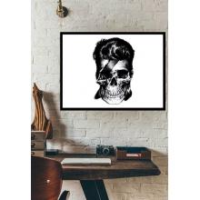 David Bowie Skull - Poster com Moldura
