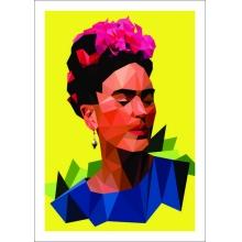 Frida Geométrica - Poster com Moldura