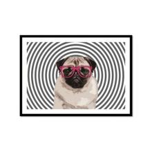 Pug - Poster com Moldura