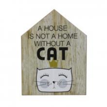 Cat - Plaquinha Decorativa House Form