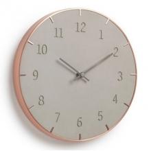 01818265312 Piatto - Concreto + Cobre - Relógio de Parede