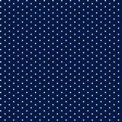 Tricoline Bolinhas Micro BOL01 2455-10 Marinho com Branco * 50cm x 1,50m