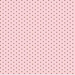 Tricoline Bolinhas Micro BOL01 2474-12 Rosa com Marrom * 50cm x 1,50m