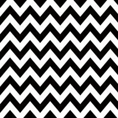 Tricoline 100% algodão Zig Zag Chevron Preto DX1676-1 * 50cm x 1,50m