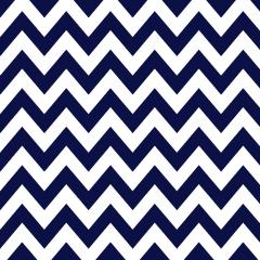 Tricoline 100% algodão Zig Zag Chevron Marinho DX1676-9 * 50cm x 1,50m