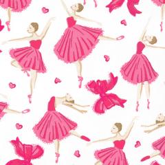 Tricoline Bailarinas Rosa 1 * 50cm x 1,50m