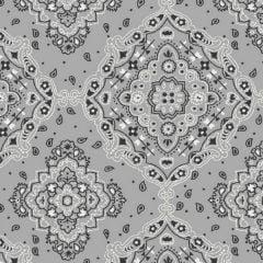 Tricoline Bandana Cinza  DX2272-04 * 50cm x 1,50m