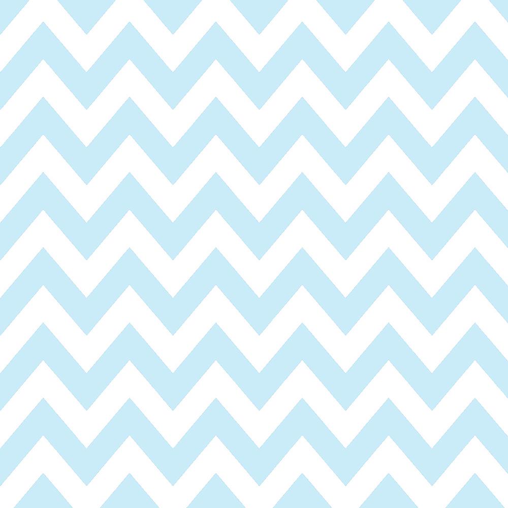 Tricoline 100% algodão Zig Zag Chevron Azul DX1676-4 - Tricoline Estampado Chevron