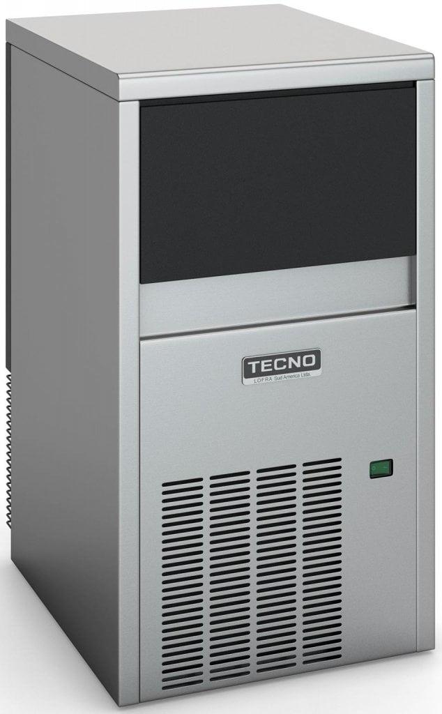 Máquina de Gelo Inox Bancada ou Embutir 28kg de Gelo/Dia TECNO