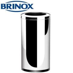 LIXEIRA INOX TAMPA BASCULANTE 64LTS 35X70CM BRINOX