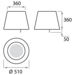 Coifa Suspensa 51cm 220v Platinum Elica