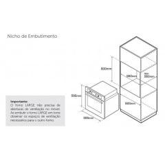 Forno Elétrico de Embutir 60cm Tower Tecno