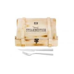 Conjunto Garfo e Faca para Churrasco Aço Inox 12pçs Steakbesteck Zwilling