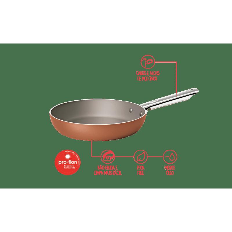 Frigideira Curry 24x5 cm Cobre Brinox