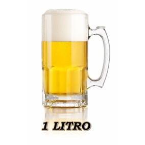 Caneca para Cerveja Tarros 1 Litro em Vidro pode Congelar