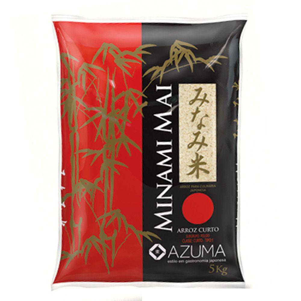Arroz Branco Japonês Minami Mai Azuma Curto - 5Kg
