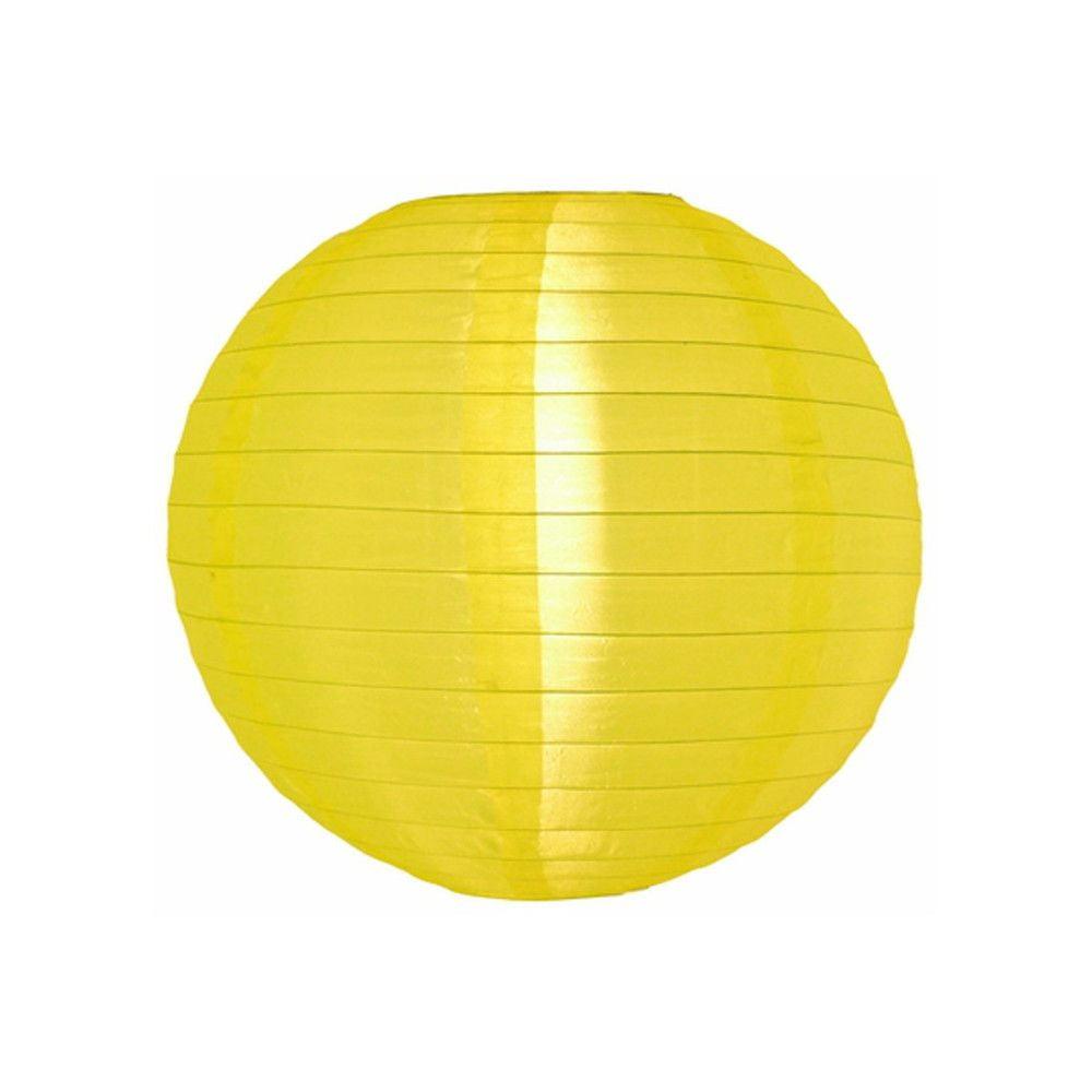 Luminária Oriental Amarela Nylon- 30 cm