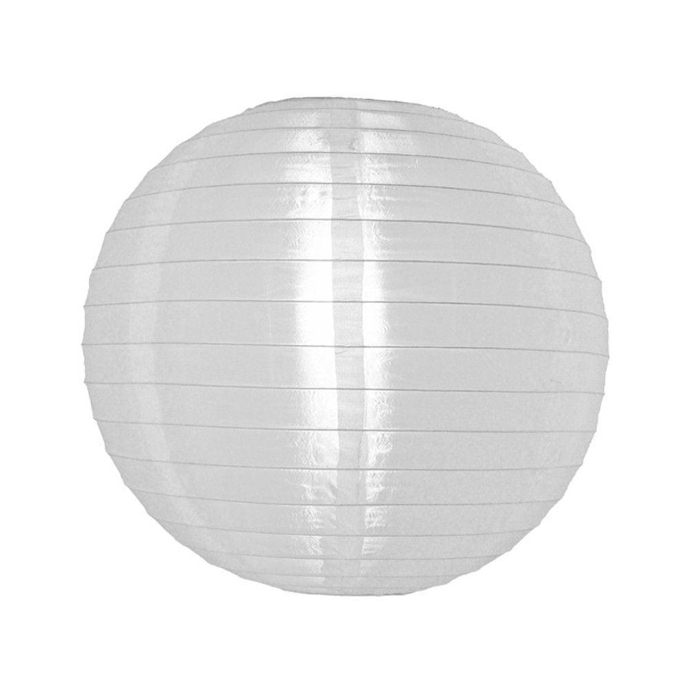 Luminária Oriental Branca Nylon - 35 cm