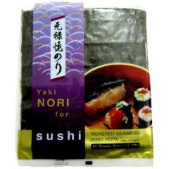 Alga Marinha Yakinori para Sushi e Temaki com 10 Folhas Genroku - 27 gramas