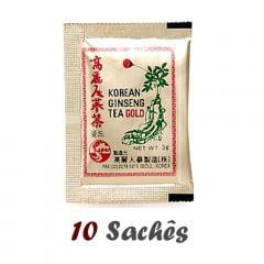 Chá Ginseng Coreano em Sachê - 10 sachês